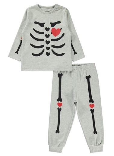 Cvl Kız Çocuk Pijama Takım Gri